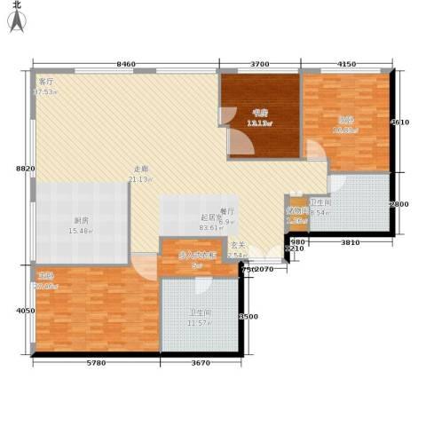当代万国城3室0厅2卫0厨175.00㎡户型图
