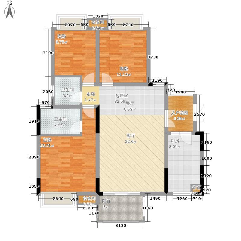 上城华府108.76㎡一期1号楼六层户型