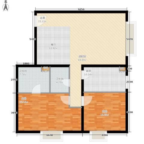 当代万国城2室0厅2卫1厨125.00㎡户型图