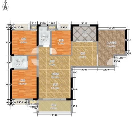 平安摩卡城3室0厅2卫1厨142.00㎡户型图
