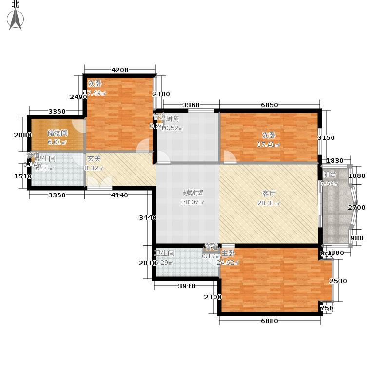 华盛家园165.01㎡2面积16501m户型