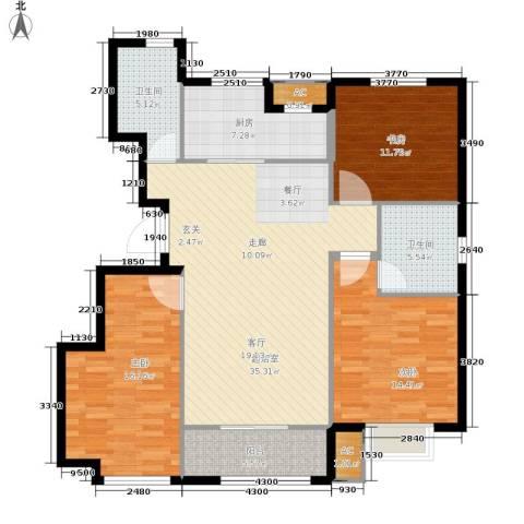 旭辉朗悦湾3室0厅2卫1厨112.00㎡户型图