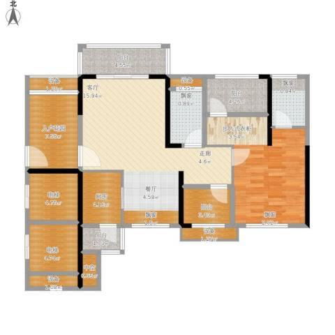 龙光海悦华庭1室1厅2卫1厨131.00㎡户型图