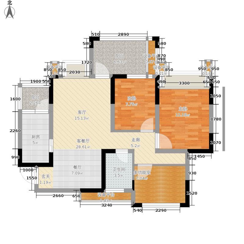 禹鑫亚瑟的城堡93.00㎡1期7、8栋标准层A2型户型