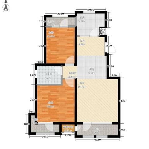 世茂英郡2室0厅1卫1厨95.00㎡户型图