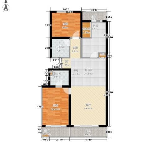浦沅小区2室0厅2卫1厨92.41㎡户型图