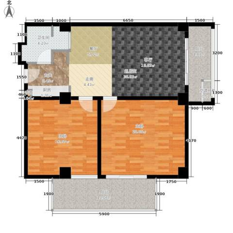 戴河首岭2室0厅1卫0厨120.00㎡户型图
