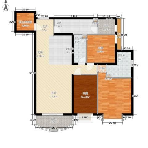 西豪逸景3室0厅2卫1厨158.00㎡户型图