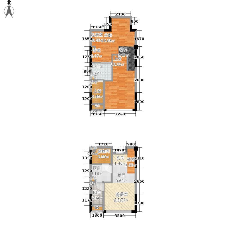 优跃城59.81㎡一期3/5号楼I6跃层户型