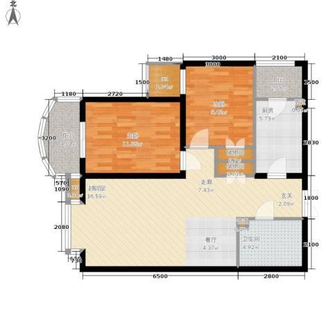 西豪逸景2室0厅1卫1厨103.00㎡户型图