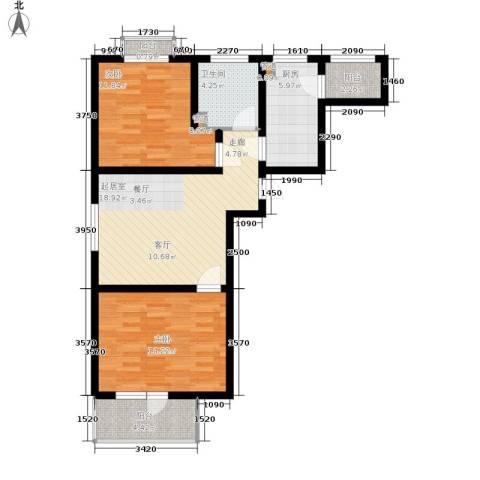 东城家园2室0厅1卫1厨62.82㎡户型图