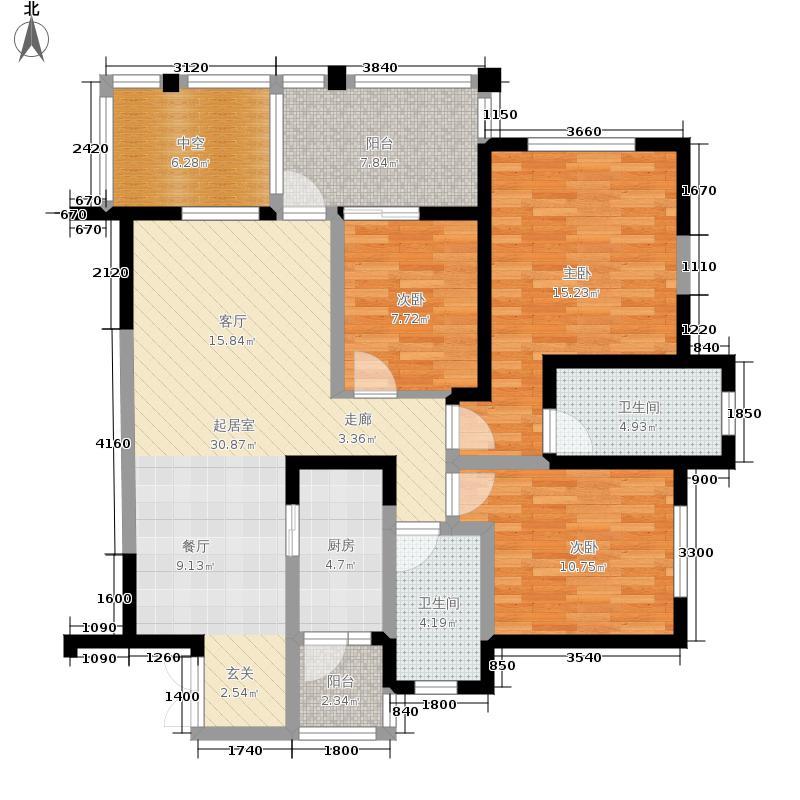 龙城国际84.00㎡1期13号楼奇数层A1户型