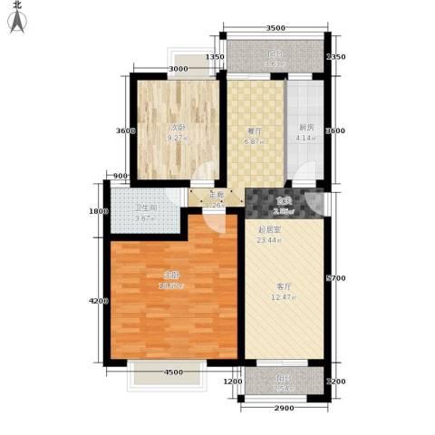 昌福盛景郦城2室0厅1卫1厨75.00㎡户型图