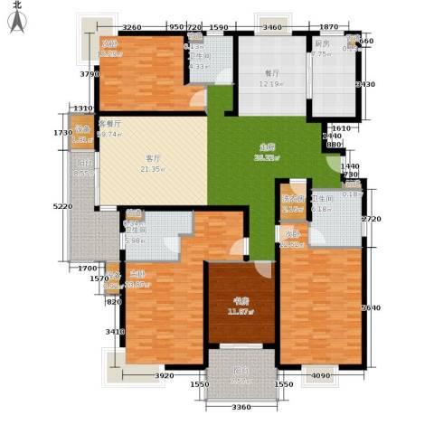 马陆清水湾公寓4室1厅3卫1厨202.00㎡户型图