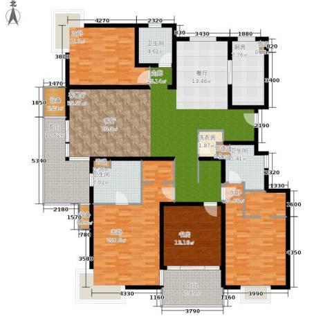 马陆清水湾公寓4室1厅3卫1厨208.00㎡户型图