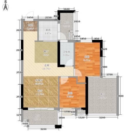 奥园康城c区2室1厅1卫1厨107.00㎡户型图