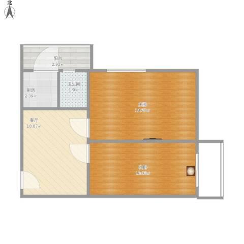 佳宁里2室1厅1卫1厨59.00㎡户型图