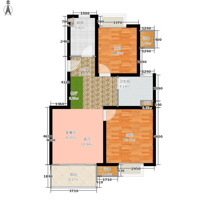 马陆清水湾公寓86.00㎡户型