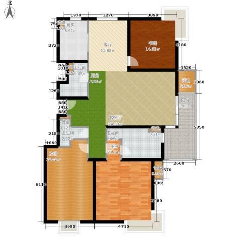 马陆清水湾公寓3室1厅3卫1厨162.00㎡户型图
