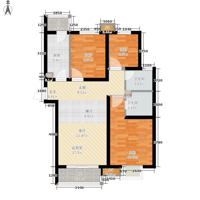 新天地美域Fa-1户型3室2厅2卫