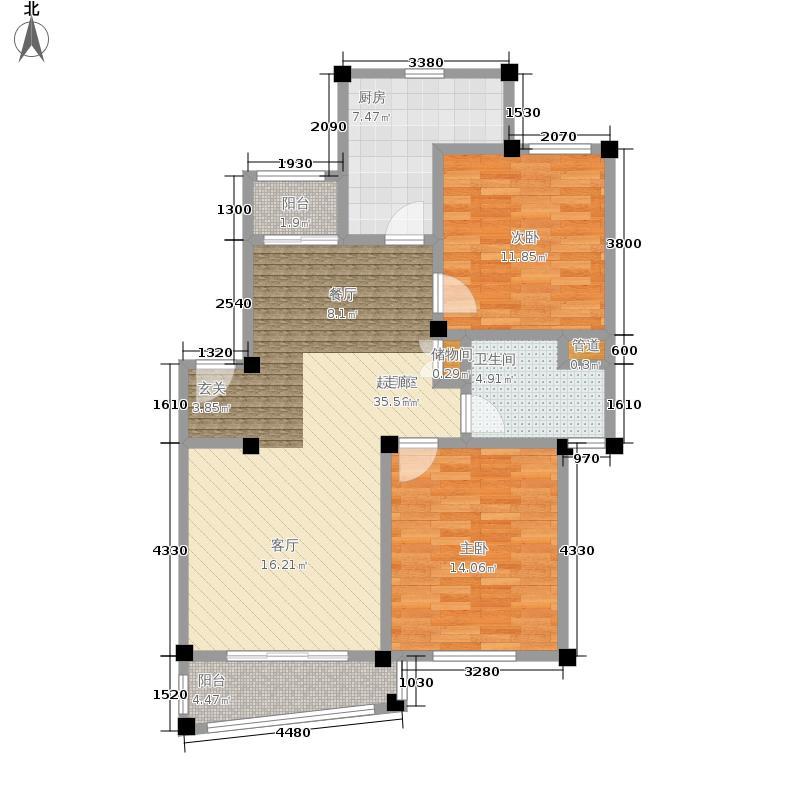 泰德苑94.00㎡面积9400m户型