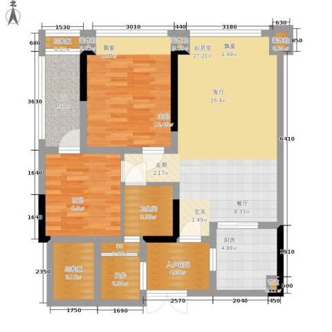 中瓯璧河名都2室0厅1卫1厨84.00㎡户型图