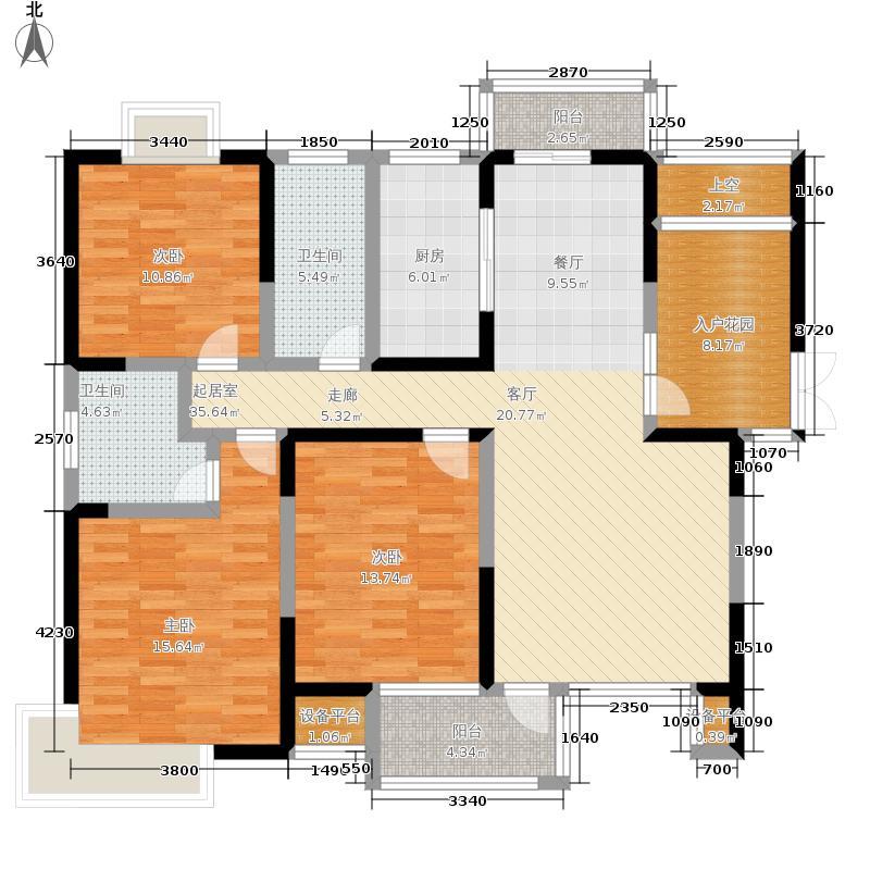南光·洛龙湾壹号130.00㎡户型3室2厅
