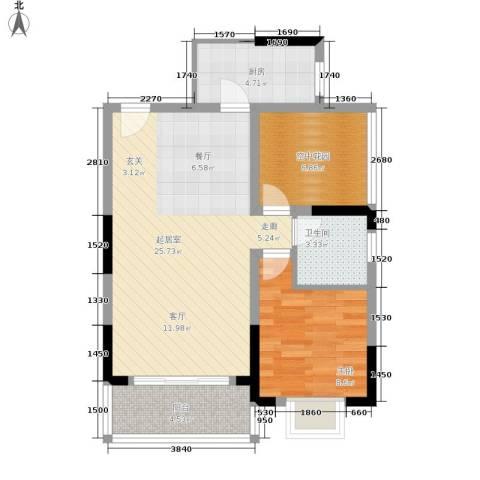 城南未来1室0厅1卫1厨78.00㎡户型图