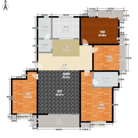 水韵江南4室0厅2卫1厨198.00㎡户型图