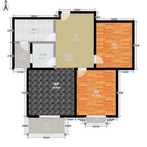 水韵江南2室0厅1卫1厨98.00㎡户型图