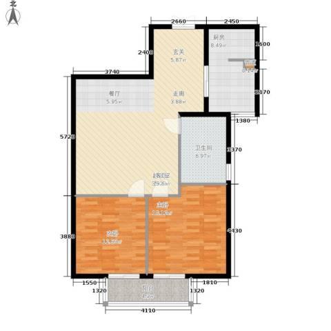 鸿盛凯旋门2室0厅1卫1厨94.00㎡户型图