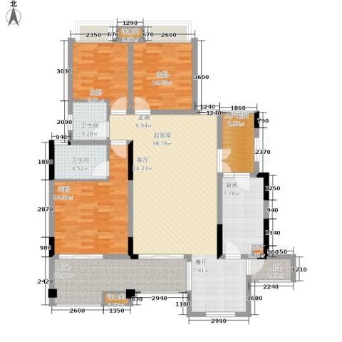 上城华府3室0厅2卫1厨134.00㎡户型图