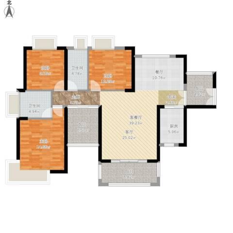 保利未来城市3室1厅2卫1厨152.00㎡户型图