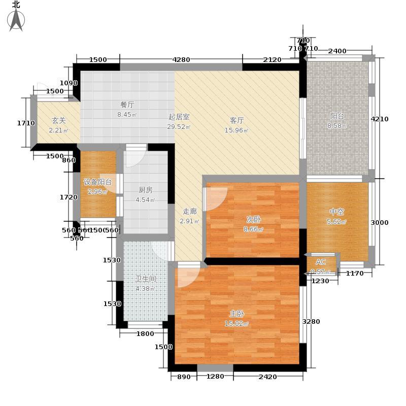龙城国际79.00㎡1期13号楼偶数层A4户型