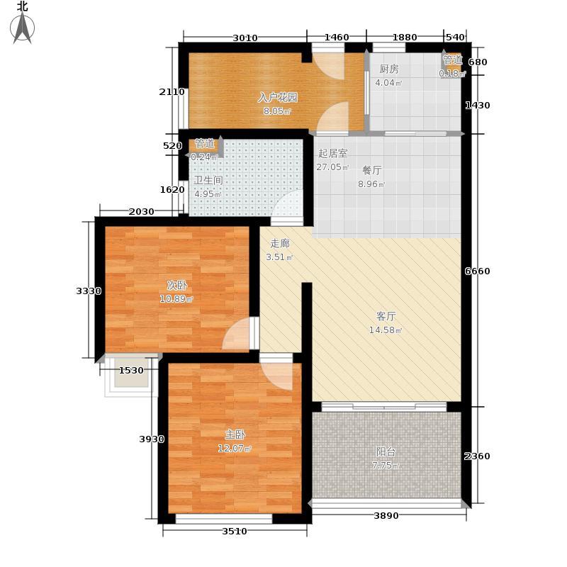 碧海一家名城99.04㎡3#-A2户型2室2厅