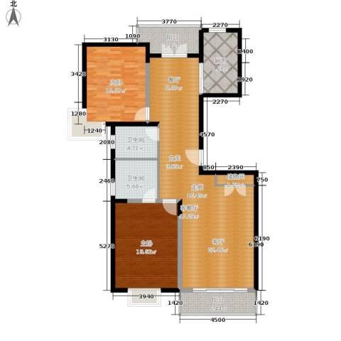 耀江国际广场公寓2室1厅2卫1厨127.00㎡户型图