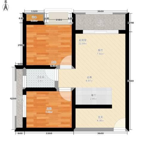 巨东青春华庭2室0厅1卫0厨56.00㎡户型图