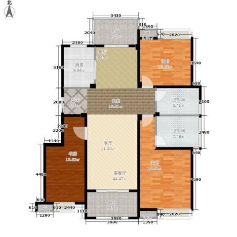 缇香一品3室1厅2卫1厨142.00㎡户型图