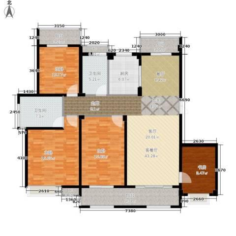 缇香一品4室1厅2卫1厨142.00㎡户型图