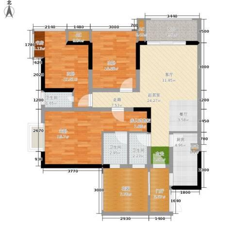 旭庆江湾国际花都3室0厅3卫1厨93.00㎡户型图