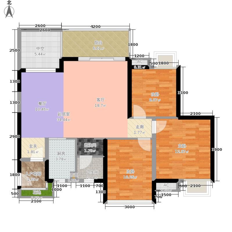 大华·锦绣海岸105.00㎡R-04户型3室2厅