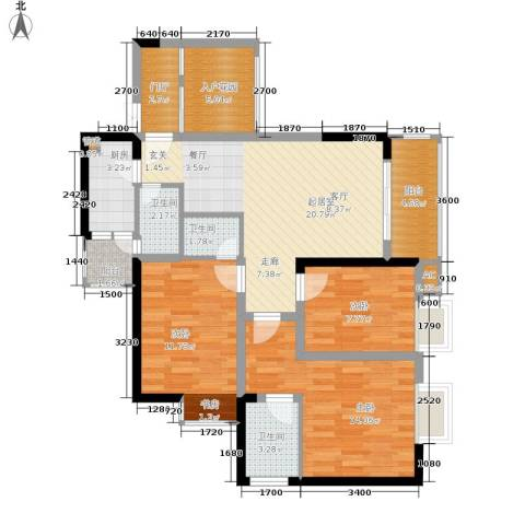 旭庆江湾国际花都3室0厅3卫1厨87.00㎡户型图