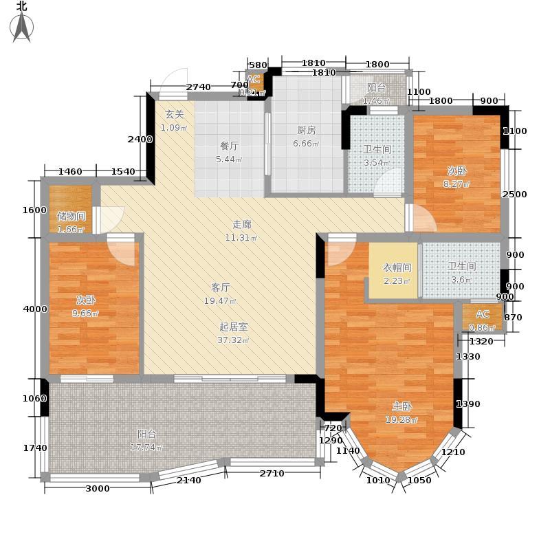 东海金香庭99.00㎡面积9900m户型