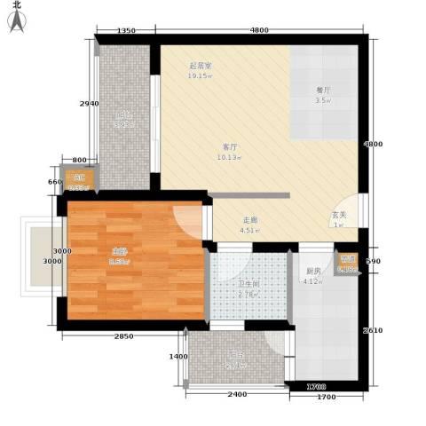 聚慧雅苑1室0厅1卫1厨88.00㎡户型图