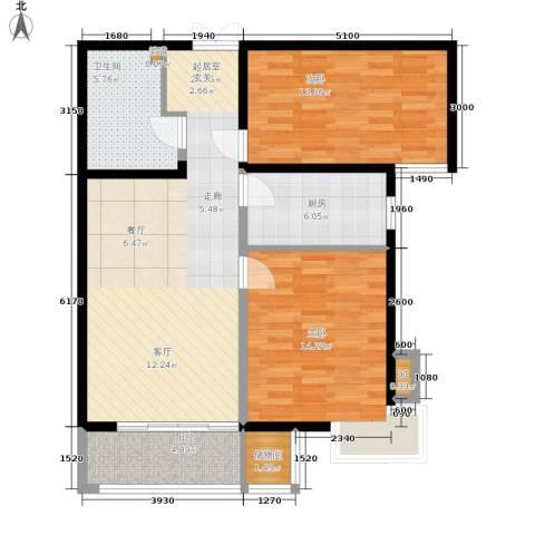 格调2室0厅1卫1厨104.00㎡户型图