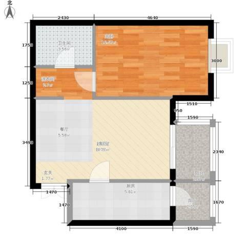 格调1室0厅1卫1厨69.00㎡户型图