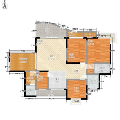 华宇渝州新都4室0厅3卫0厨128.00㎡户型图