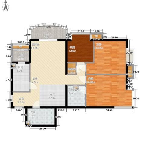 西豪逸景3室0厅2卫1厨137.00㎡户型图