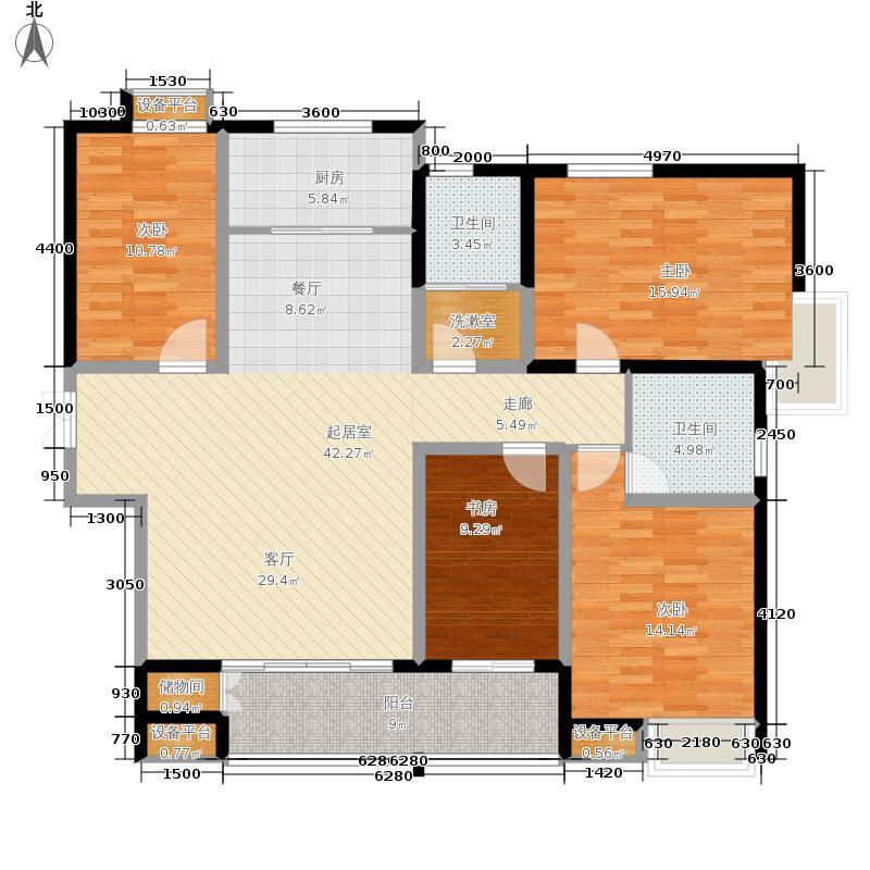 阳光100公园五区173.90㎡K10号楼C1户型4室2厅