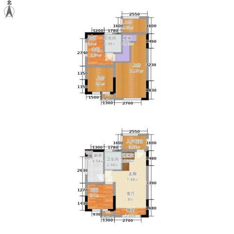 优跃城1室0厅2卫1厨73.38㎡户型图